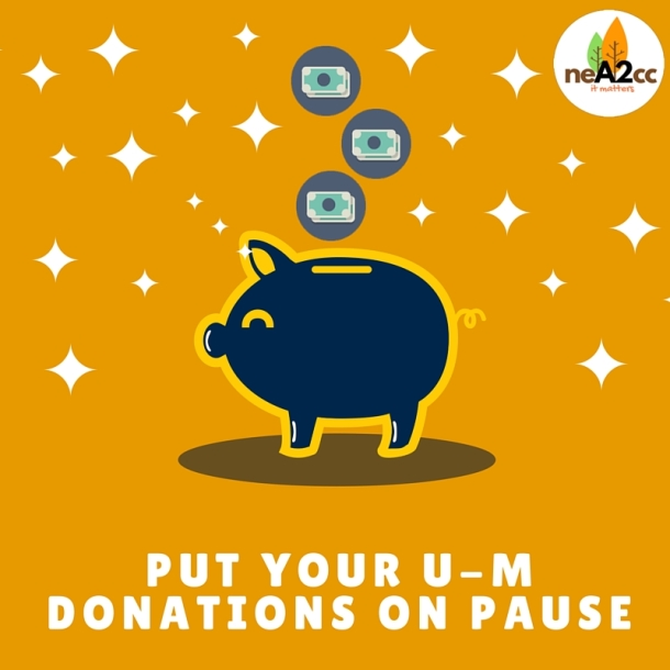 Put those donations on Pause
